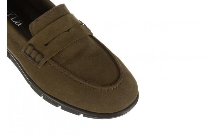 Półbuty bayla-196 168201 d87 196013, zielony, skóra naturalna  - zamszowe - półbuty - buty damskie - kobieta 6
