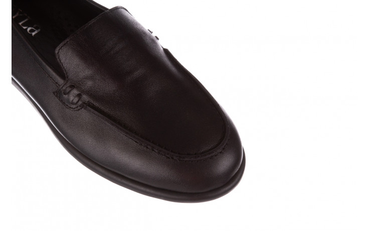 Półbuty bayla-196 168504 d44 196015, czarny, skóra naturalna  - skórzane - półbuty - buty damskie - kobieta 6
