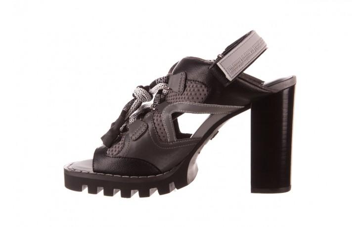 Sandały sca'viola e-34 d. grey-black, szary/ czarny, skóra naturalna  - na obcasie - sandały - buty damskie - kobieta 2