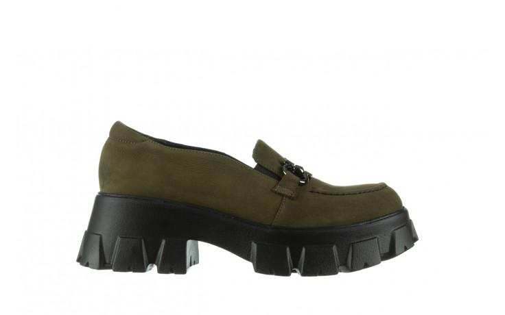 Półbuty bayla-196 20ef126-06 d87 196022, zielony, skóra naturalna  - półbuty - buty damskie - kobieta