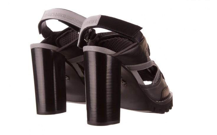Sandały sca'viola e-34 d. grey-black, szary/ czarny, skóra naturalna  - na obcasie - sandały - buty damskie - kobieta 3