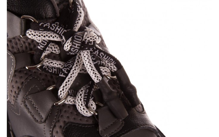 Sandały sca'viola e-34 d. grey-black, szary/ czarny, skóra naturalna  - na obcasie - sandały - buty damskie - kobieta 6
