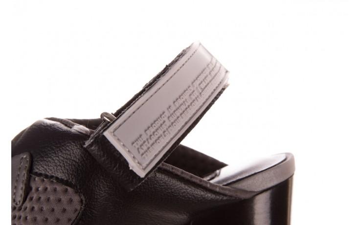 Sandały sca'viola e-34 d. grey-black, szary/ czarny, skóra naturalna  - na obcasie - sandały - buty damskie - kobieta 7