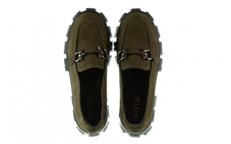 Półbuty bayla-196 20ef126-06 d87 196022, zielony, skóra naturalna  - półbuty - buty damskie - kobieta 5