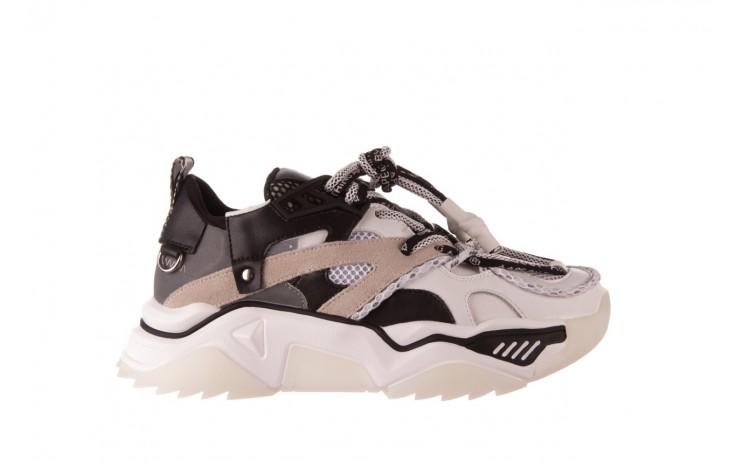 Sneakersy sca'viola e-39 white-black, biały/ czarny, skóra naturalna  - obuwie sportowe - dla niej  - sale