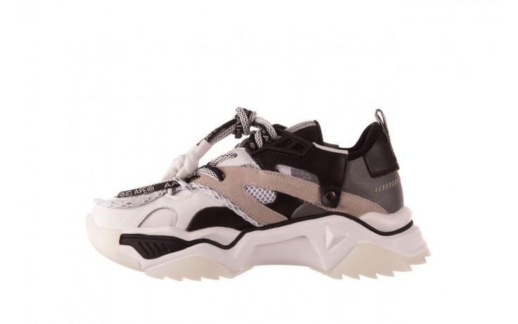 Sneakersy sca'viola e-39 white-black, biały/ czarny, skóra naturalna  - obuwie sportowe - dla niej  - sale 2