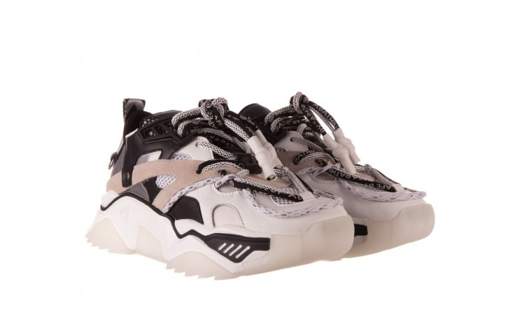 Sneakersy sca'viola e-39 white-black, biały/ czarny, skóra naturalna  - obuwie sportowe - dla niej  - sale 1