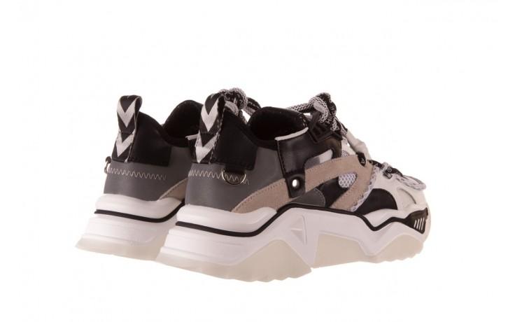 Sneakersy sca'viola e-39 white-black, biały/ czarny, skóra naturalna  - obuwie sportowe - dla niej  - sale 3
