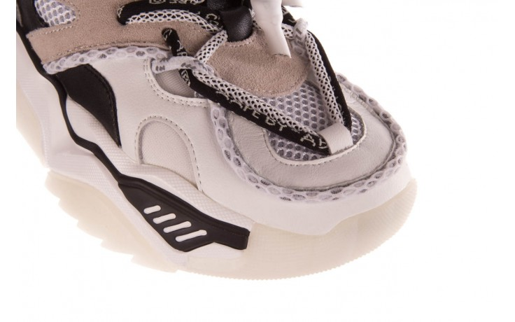 Sneakersy sca'viola e-39 white-black, biały/ czarny, skóra naturalna  - obuwie sportowe - dla niej  - sale 5
