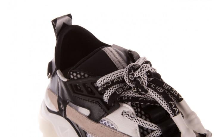 Sneakersy sca'viola e-39 white-black, biały/ czarny, skóra naturalna  - obuwie sportowe - dla niej  - sale 6