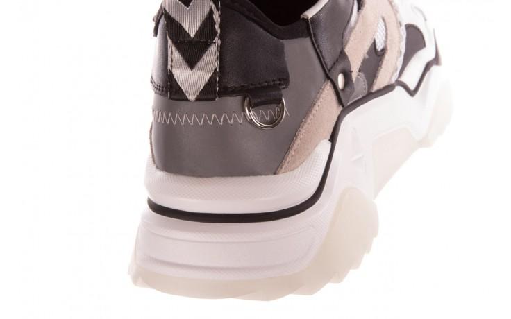 Sneakersy sca'viola e-39 white-black, biały/ czarny, skóra naturalna  - obuwie sportowe - dla niej  - sale 7