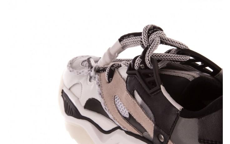 Sneakersy sca'viola e-39 white-black, biały/ czarny, skóra naturalna  - obuwie sportowe - dla niej  - sale 8