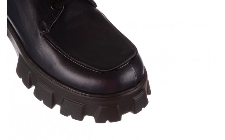 Półbuty bayla-196 20ef126-10 d57 laci-kr24 196023, granat, skóra naturalna  - sznurowane - półbuty - buty damskie - kobieta 6