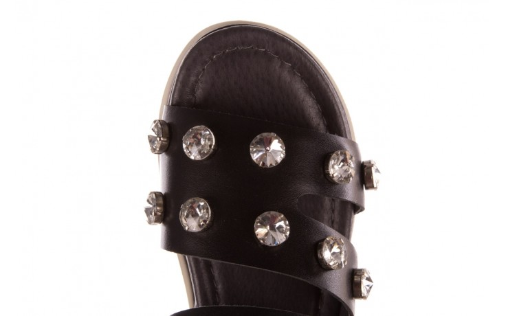 Klapki sca'viola b-185 black, czarny, skóra naturalna  - sca`viola - nasze marki 7