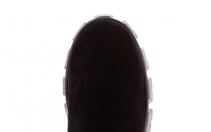 Botki bayla-196 20ef126-01 y16 196016, czarny, skóra naturalna  - kobieta 7