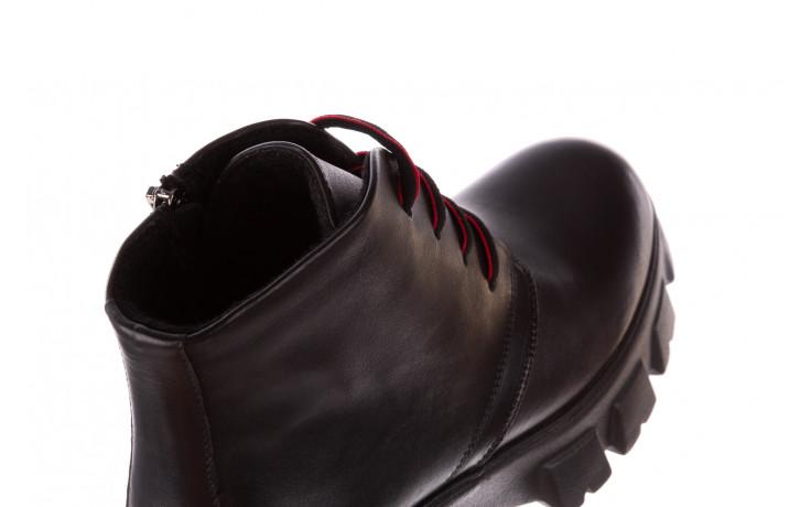 Botki bayla-196 20ef126-02 d44 196018, czarny, skóra naturalna  - botki - buty damskie - kobieta 8