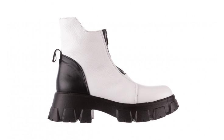 Botki bayla-196 15038-04 beyaz floter - d44 196009, biały, skóra naturalna  - skórzane - botki - buty damskie - kobieta