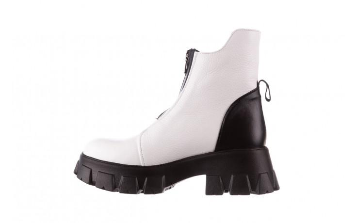 Botki bayla-196 15038-04 beyaz floter - d44 196009, biały, skóra naturalna  - skórzane - botki - buty damskie - kobieta 3