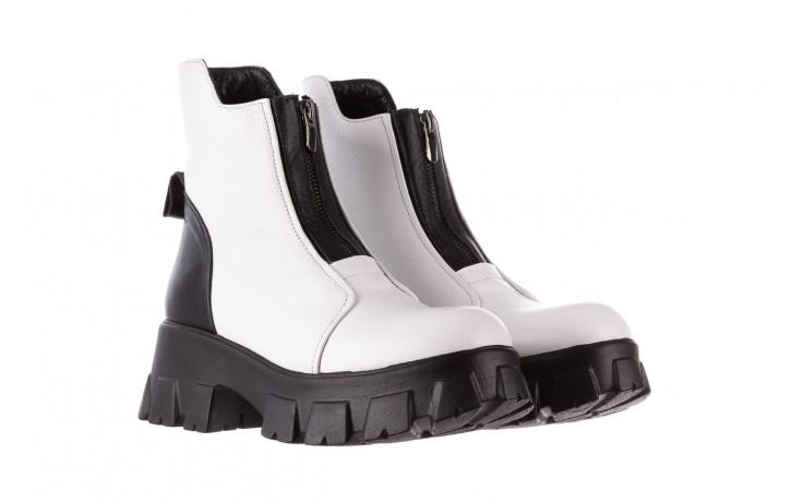 Botki bayla-196 15038-04 beyaz floter - d44 196009, biały, skóra naturalna  - skórzane - botki - buty damskie - kobieta 1