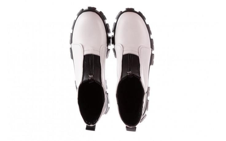 Botki bayla-196 15038-04 beyaz floter - d44 196009, biały, skóra naturalna  - skórzane - botki - buty damskie - kobieta 5
