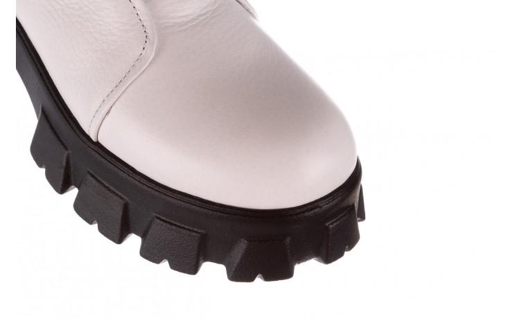 Botki bayla-196 15038-04 beyaz floter - d44 196009, biały, skóra naturalna  - skórzane - botki - buty damskie - kobieta 6