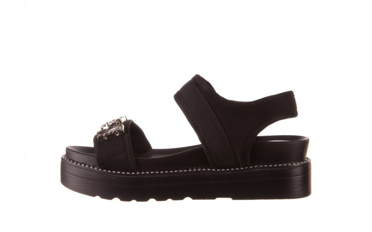 Sandały sca'viola l-13 black, czarny, materiał - mega okazje - ostatnie rozmiary 2