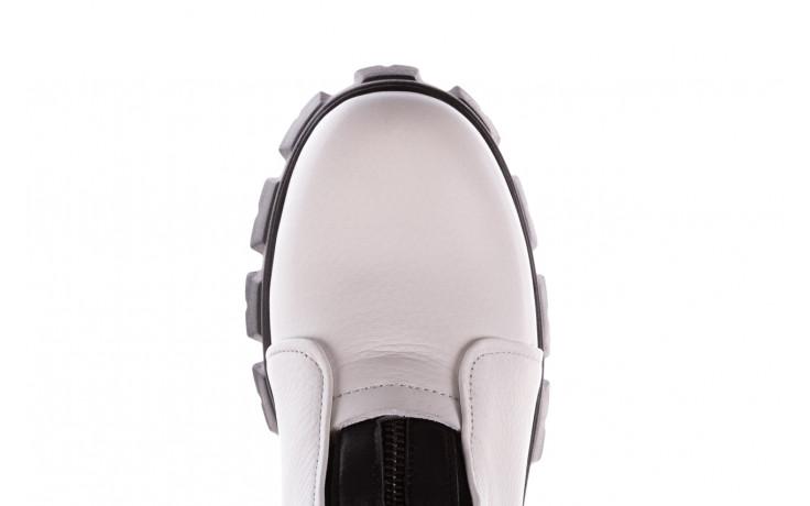 Botki bayla-196 15038-04 beyaz floter - d44 196009, biały, skóra naturalna  - skórzane - botki - buty damskie - kobieta 7