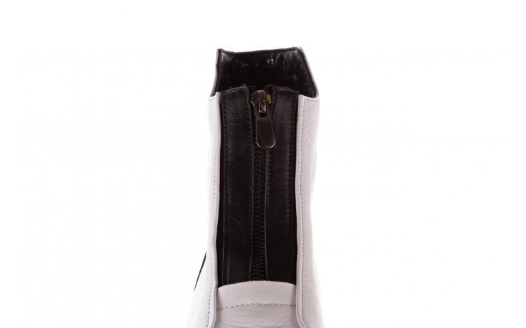 Botki bayla-196 15038-04 beyaz floter - d44 196009, biały, skóra naturalna  - skórzane - botki - buty damskie - kobieta 8