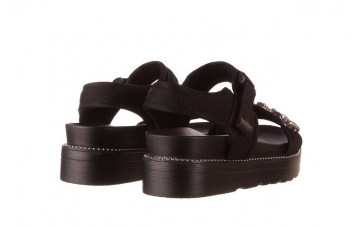 Sandały sca'viola l-13 black, czarny, materiał - mega okazje - ostatnie rozmiary 3