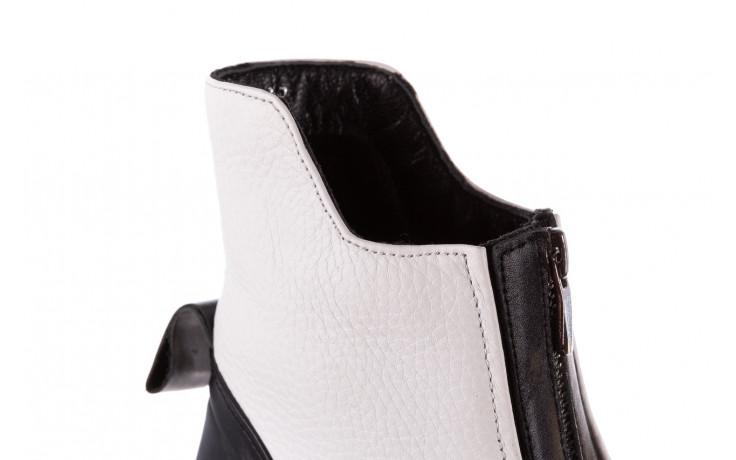 Botki bayla-196 15038-04 beyaz floter - d44 196009, biały, skóra naturalna  - skórzane - botki - buty damskie - kobieta 11