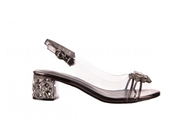 Sandały sca'viola g-25 pewter 21 047172, srebro, silikon