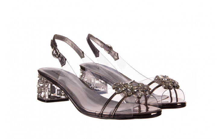 Sandały sca'viola g-25 pewter 21 047172, srebro, silikon 1