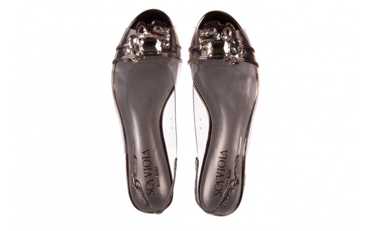 Sandały sca'viola g-25 pewter 21 047172, srebro, silikon 4
