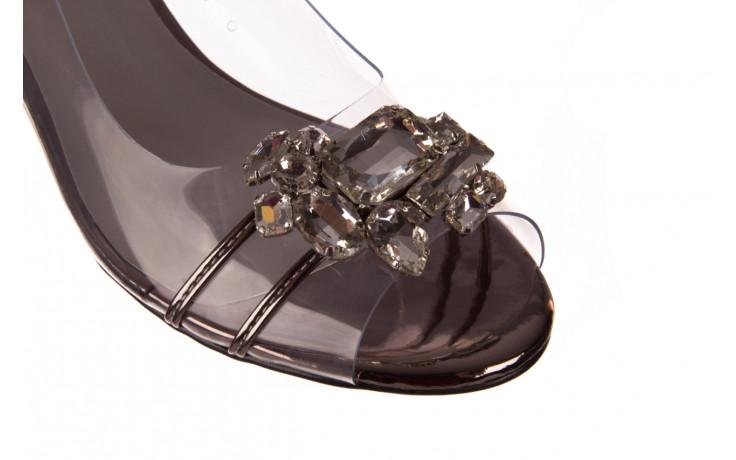 Sandały sca'viola g-25 pewter 21 047172, srebro, silikon - trendy - kobieta 8
