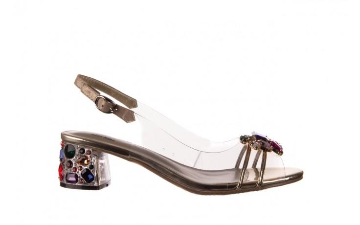 Sandały sca'viola g-25 gold, złoty, silikon  - kobieta