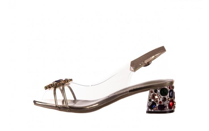 Sandały sca'viola g-25 gold, złoty, silikon  - kobieta 2