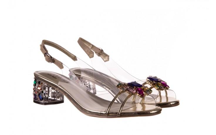 Sandały sca'viola g-25 gold, złoty, silikon  - kobieta 1