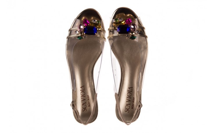 Sandały sca'viola g-25 gold, złoty, silikon  - kobieta 4