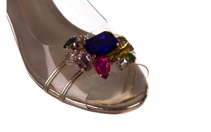 Sandały sca'viola g-25 gold, złoty, silikon  - kobieta 5