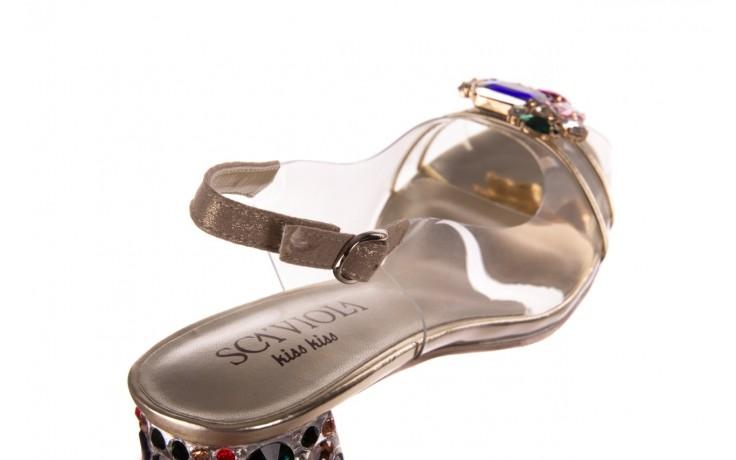 Sandały sca'viola g-25 gold, złoty, silikon  - kobieta 6
