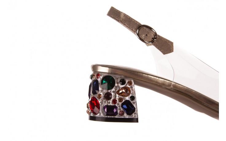 Sandały sca'viola g-25 gold, złoty, silikon  - kobieta 7