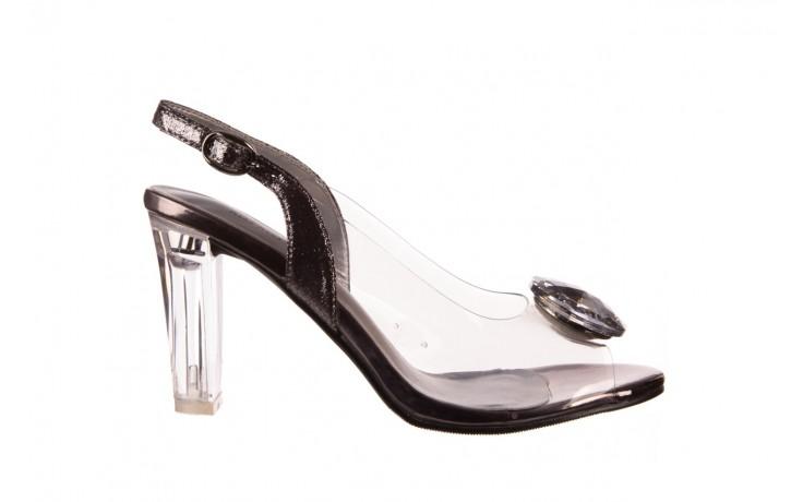 Sandały sca'viola g-17 silver, srebrny, silikon - na obcasie - sandały - buty damskie - kobieta