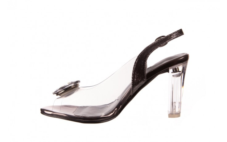 Sandały sca'viola g-17 silver, srebrny, silikon - na obcasie - sandały - buty damskie - kobieta 2