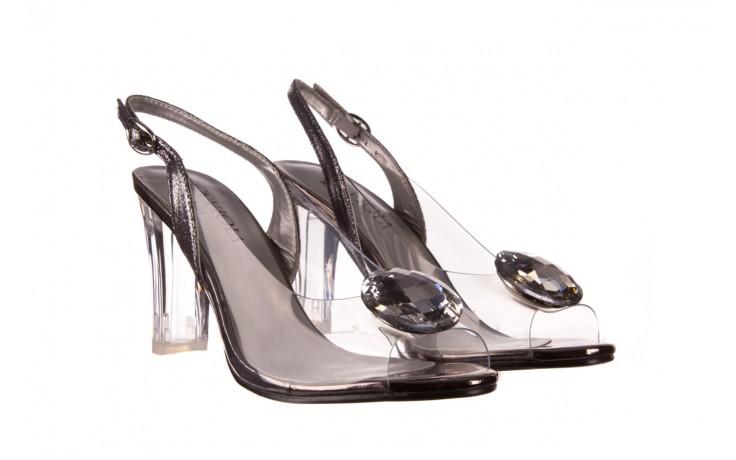 Sandały sca'viola g-17 silver, srebrny, silikon - na obcasie - sandały - buty damskie - kobieta 1