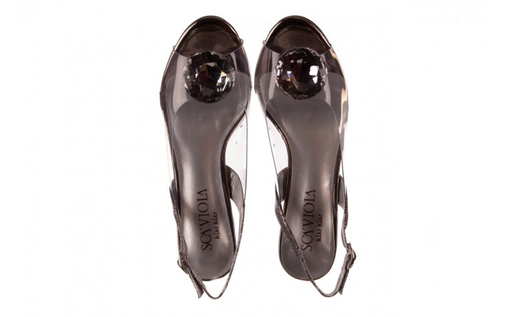 Sandały sca'viola g-17 silver, srebrny, silikon - na obcasie - sandały - buty damskie - kobieta 4