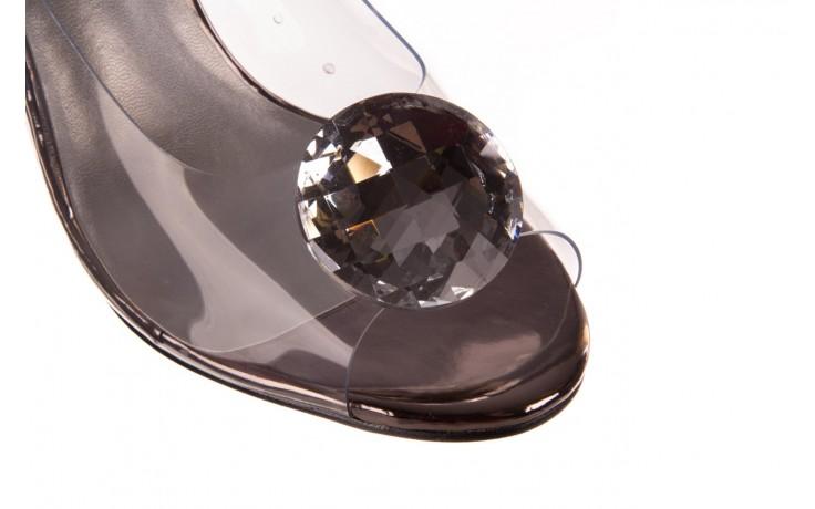 Sandały sca'viola g-17 silver, srebrny, silikon - na obcasie - sandały - buty damskie - kobieta 6