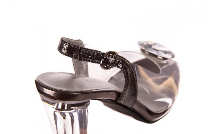Sandały sca'viola g-17 silver, srebrny, silikon - na obcasie - sandały - buty damskie - kobieta 5