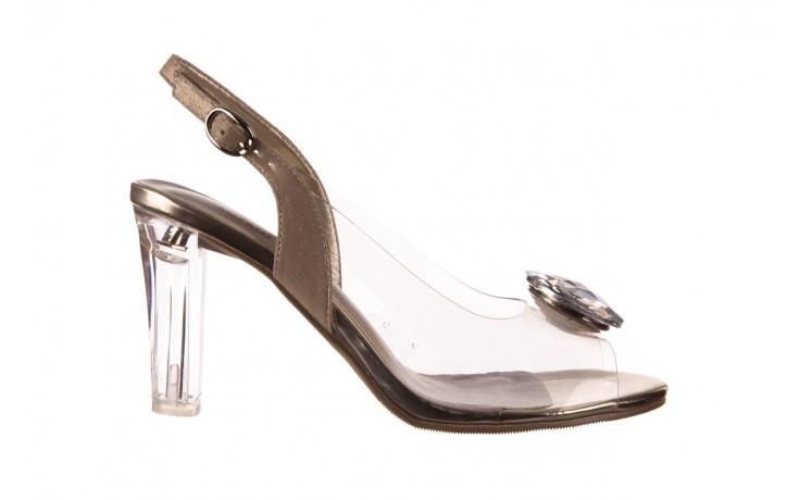 Sandały sca'viola g-17 gold, złoty, silikon - gumowe - sandały - buty damskie - kobieta