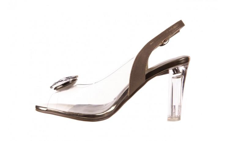 Sandały sca'viola g-17 gold, złoty, silikon - gumowe - sandały - buty damskie - kobieta 2