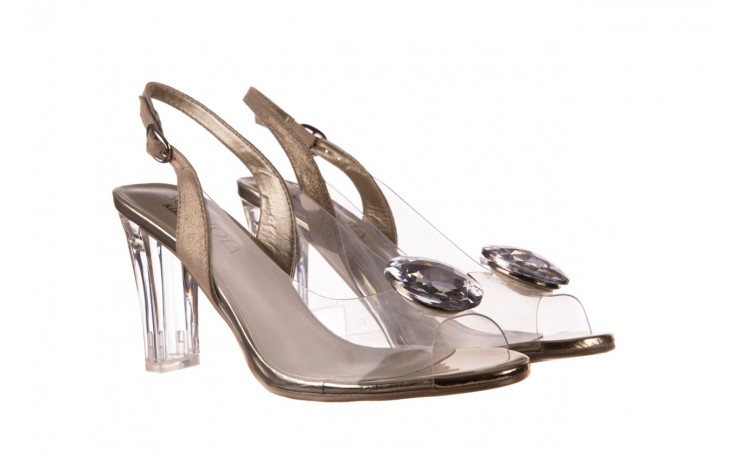 Sandały sca'viola g-17 gold, złoty, silikon - gumowe - sandały - buty damskie - kobieta 1